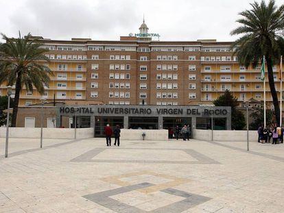 Fachada del hospital Virgen del Rocío de Sevilla.