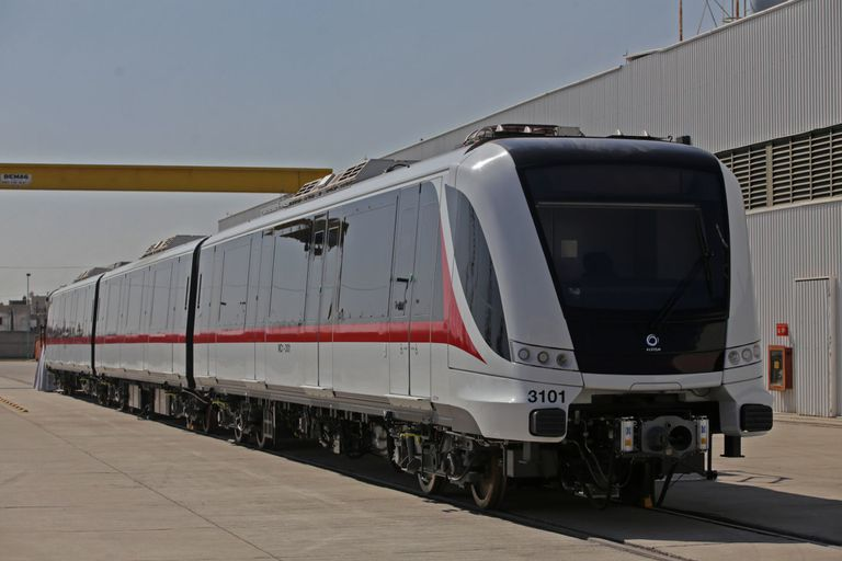 El tren de la Línea 3 del Metro de Guadalajara, que estará listo en septiembre.