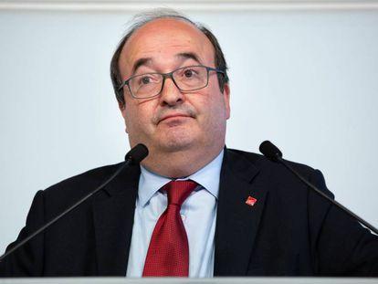 Miquel Iceta en una comparecencia en el Parlament.