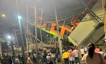 Accidente en la Línea 12 del Metro de la Ciudad de México.