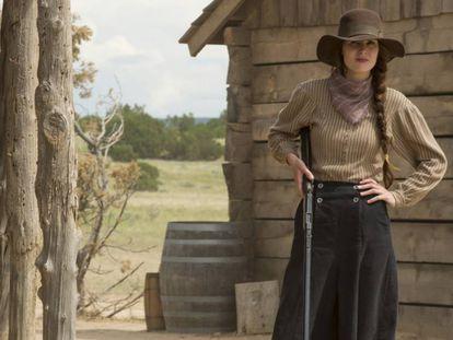 Michelle Dockery, en la miniserie 'Godless'.