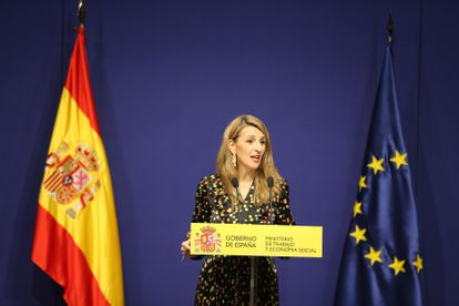 La ministra de Trabajo, Yolanda Díaz, la semana pasada en Madrid.