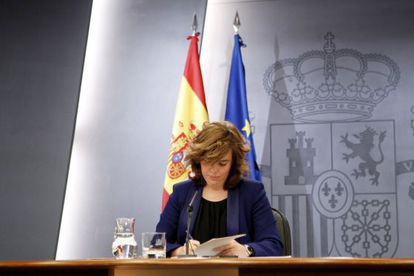 La vicepresidenta Soraya Sáenz de Santamaría presentó la ley el 23 de marzo.