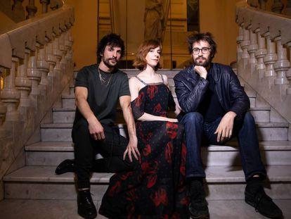 Los directores Mikel Rueda,Inés de León y Dani de la Orden en el Círculo de Bellas Artes.
