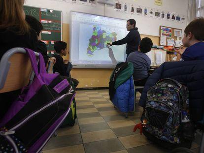 Una clase de la Escuela Ramon y Cajal de Terrassa.