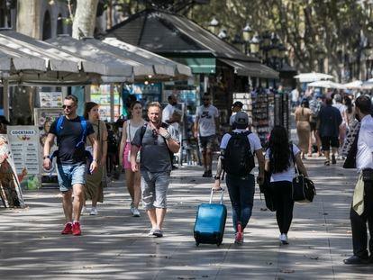 Ambiente en la Ramblas de Barcelona, la semana pasada.
