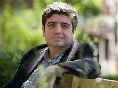 L'escriptor Francesc Viadell, fotografiat a Barcelona.