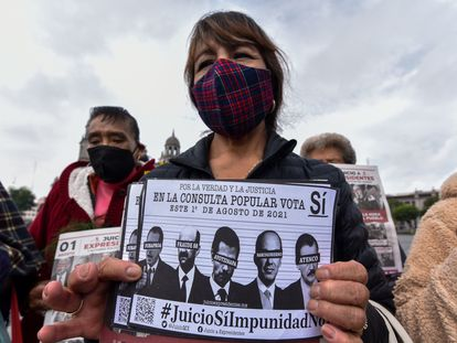Una ciudadana de Toluca promueve la consulta popular para enjuiciar a los expresidentes mexicanos.