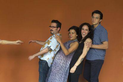 De izquierda a derecha los escritores colombianos: Álvaro Robledo, Melba Escobar, Amalia Andrade y Andrés Felipe Solano.