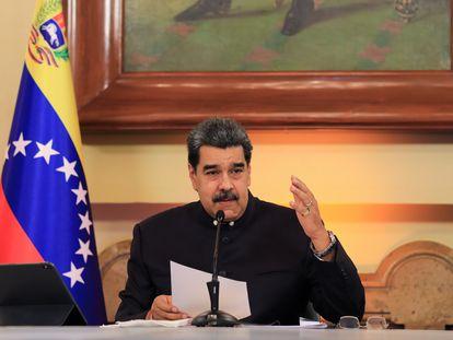 Nicolás Maduro anuncia, este lunes en Caracas, la creación de la comisión para la reforma judicial.