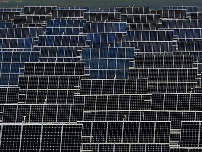 Una planta solar en España.