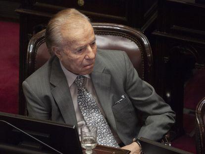 Imagen de archivo del expresidente de Argentina, Carlos Menem.