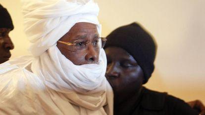 El ex dictador chadiano Hissène Habré, durante el juicio celebrado en Dakar en 2016.