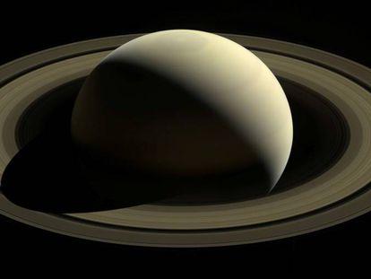 Imagen de Saturno tomada por la sonda 'Cassini' en 2016.