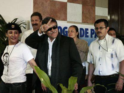 Jesús Santrich, en La Habana, durante el proceso de negociación por la paz, en 2016.
