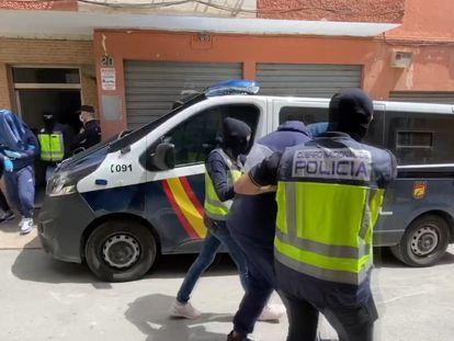 Detención el pasado 21 de abril en Almería de tres presuntos yihadistas, entre ellos uno de los más buscados en Europa.
