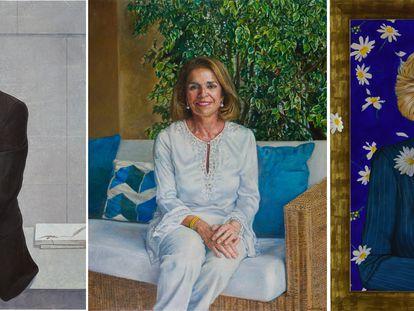 Retratos de Alberto Ruiz-Gallardón (por María Bisbal), Ana Botella (por Rafael Cidoncha) y Manuela Carmena (por Ángeles Agrela).