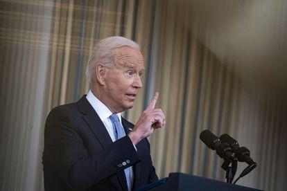 El presidente estadounidense Joe Biden comparece sobre el plan de vacunación en la Casa Blanca.