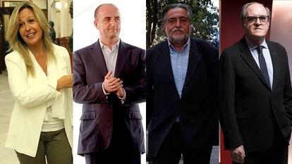 Desde la izquierda, Trinidad Jiménez, Miguel Sebastián, Pepu Hernández y Ángel Gabilondo.