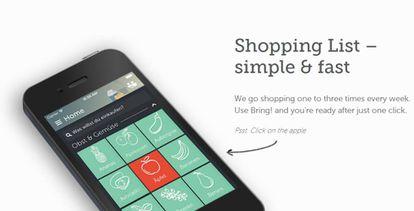 La aplicación Bring! ayuda a hacer la lista de la compra.