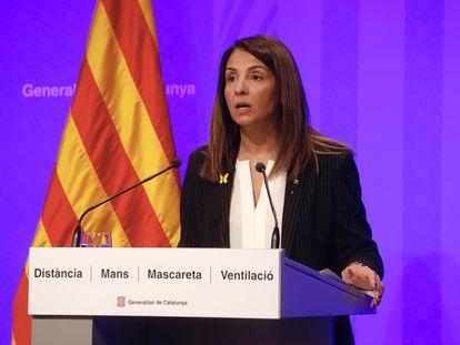 La portavoz de la Generalitat de Cataluña, Meritxell Budó.