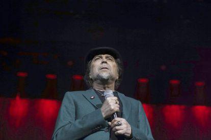 Joaquín Sabina, durante su concierto en Madrid.