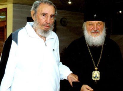 Fidel Castro, junto a Kiril Gundajaev, en la imagen tomada el pasado 20 de octubre en La Habana.