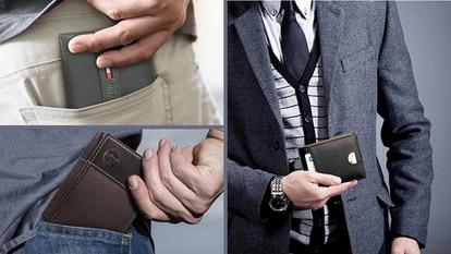 Estas carteras para hombre están fabricadas en cuero, son delgadas y de diferentes marcas