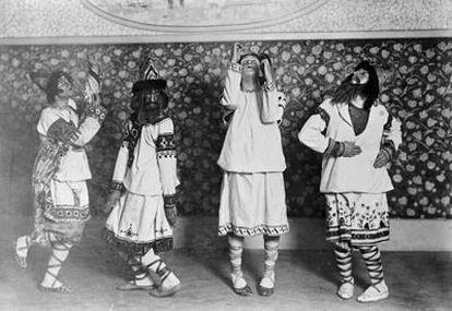 Representación en París de <i>La consagración de la primavera</i> 1913, por los ballets rusos de Diaghilev.