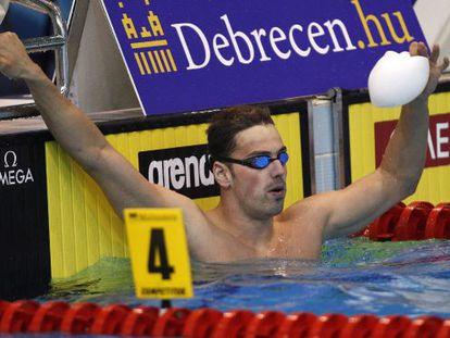 Rafa Muñoz, en el Europeo de Hungría.
