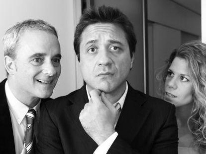 Enrique Arce, Diego Braguinsky y Rebeca Valls en 'A por todas'