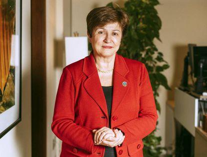 Kristalina Georgieva, en su despacho de Washington en el Banco Mundial, el año pasado.