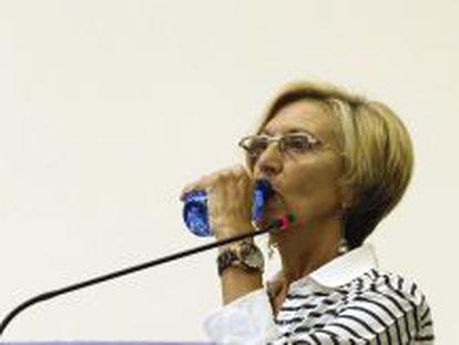 Rosa Díez en el consejo extraordinario de UPyD.