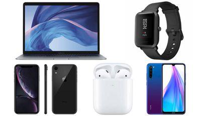 """De entre los productos, encontramos: El MacBook Air edición especial 2019 de 13,3"""", la pulsera de actividad Xiaomi Amazfit Bip o el iPhone XR."""