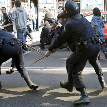 El menor detenido en la protesta de Madrid