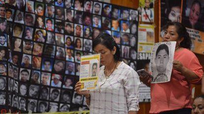 Familiares de desaparecidos en Veracruz, México.