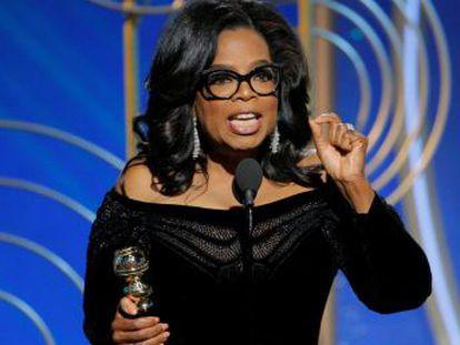 La periodista y actriz emociona a los Globos de Oro con un discurso aguerrido y emotivo contra el racismo y el acoso sexual