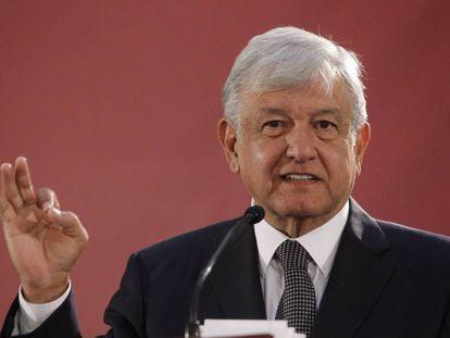 López Obrador, durante una de sus ruedas de prensa.
