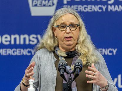 La Secretaria de Salud de Pensilvania, la pediatra Rachel Levine.