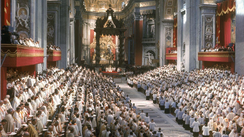 Primera sesión del Concilio Vaticano II, en Roma el 11 de octubre de 1962.