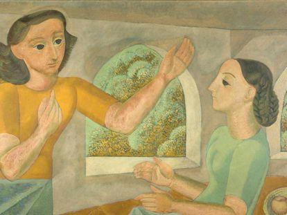 'La Anunciación', obra pintada por Norah Borges en 1945.