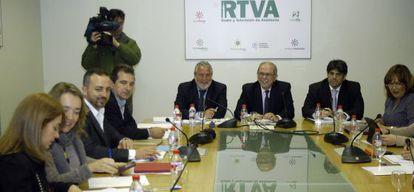 Una reunión del consejo de administración de RTVA.