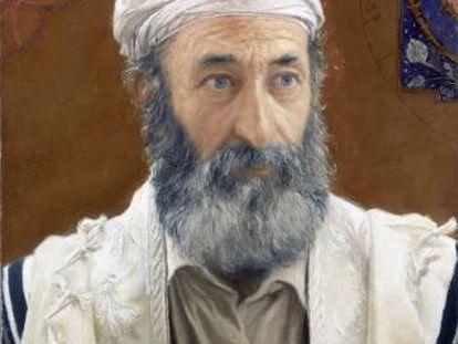 Emiliano Maté, retratado como Maimónides por el pintor Daniel Quintero.