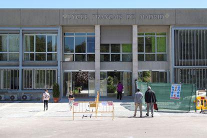 Vista del Liceo Francés de Madrid, uno de los primeros en confinar un aula en la comunidad, el pasado septiembre.