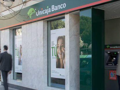 Una sucursal bancaria de Unicaja.