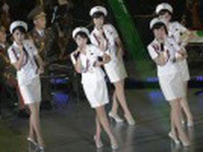 El grupo femenino estrella de Corea del Norte da un concierto para celebrar el 70 aniversario del Partido de los Trabajadores