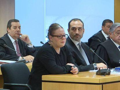 Beatriz López Doncel, durante el primer día del juicio en la Audiencia Provincial en junio de 2019.