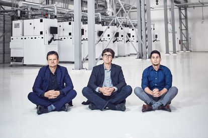 From left to right, the founders of Diamond Foundry: Martin Roscheisen, Jeremy Scholz and Kyle Gazay.