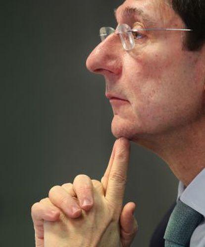 El presidente de Bankia, José Ignacio Goirigolzarri, durante la presentación de los resultados correspondientes a 2012