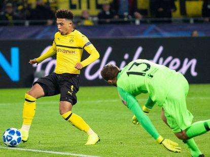 Sancho dribla a Oblak para hacer el tercero del Dortmund. En vídeo, declaraciones de Simeone en rueda de prensa tras el partido contra el Borussia Dortmund